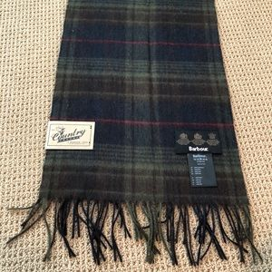 NWT Barbour Lambswool Scarf- Navy, Olive, Red